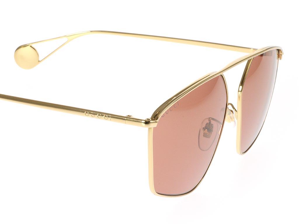 Gucci GG0437SA Gold Red 001