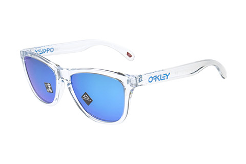 Oakley Frogskins OO9013-D0 Crystal Clear Prizm Sapphire