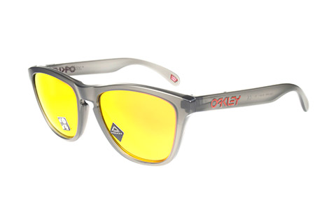 Oakley Frogskins OO9013-F8 Matte Grey Smoke Prizm Ruby Polarised