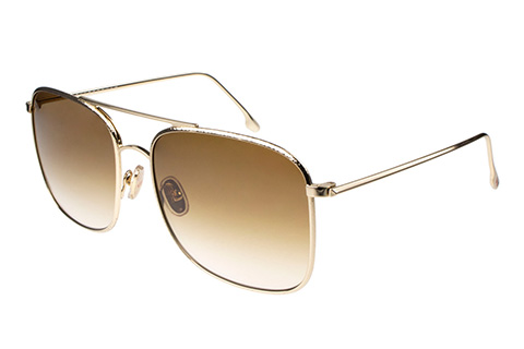 Victoria Beckham VB202S 702 Gold/Brown